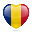 Heart icon of Romania vector image
