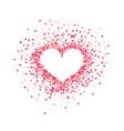 heart shape paper confetti valentines petals top vector image