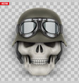 human skulls with german army helmet vector image
