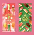 ice cream store banner vector image