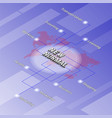 isometric background with word new normal vector image vector image