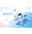 isometric logistics and delivery infographics vector image vector image