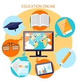 Knowledge collected from around the world concept vector image