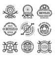 labels template design with gears chains and vector image vector image