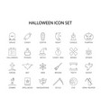 line icons set halloween pack vector image vector image