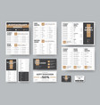 menu templates for cafes and restaurants in white vector image vector image