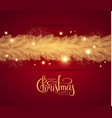 merry christmas shining holiday background vector image vector image