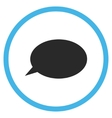 Message Cloud Flat Rounded Icon vector image