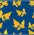 pattern of the gold fishes in the sea vector image