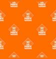 pirate pattern orange vector image vector image
