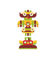 religious totem pole colorful native cultural vector image vector image