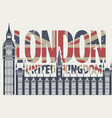 retro postcard with the big ben in london vector image