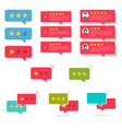 review rating bubble speeches set vector image vector image