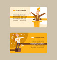 rhetoric coach set business cards vector image