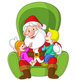 santa with kids vector image