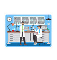 science lab flat style design vector image