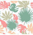 seamless tropical leaves pattern vector image vector image