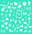 set medical icon vector image vector image
