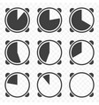 set of timers icons on transparent background vector image vector image