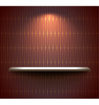 Shelf on the brown wall vector image vector image