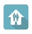 Square young family house icon vector image vector image