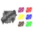 sudan map vector image