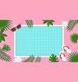 summer vacation swimming pool poster vector image vector image
