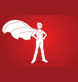 super hero man standing with costume cartoon vector image