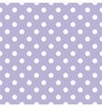 Tile white polka dots on violet background vector image vector image