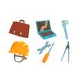 tool kit engineer and repairman vector image