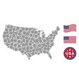 usa map stylization of boat steering wheel vector image