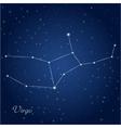 virgo constellation zodiac vector image vector image