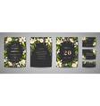 wedding invitation floral invite rsvp card design vector image vector image