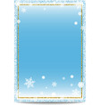Winter vertical banner template with golden frame vector image vector image