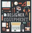 Set of equipment for design Designer gadgets for c vector image