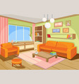 a cozy cartoon interior of vector image vector image