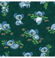 Adorable seamless pattern with cute koalas in vector image