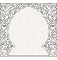 Arabic greeting background Arch Muslim vector image vector image
