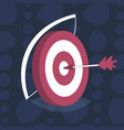 arrow center board target goal successful strategy vector image vector image