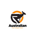 australian kangaroo logo designs modern vector image