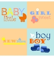 baby logos and icons with inscriptions vector image