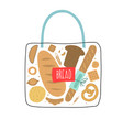 bag bread vector image