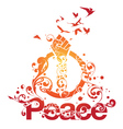 beautiful peace design vector image vector image