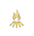 Bonfire computer symbol vector image vector image