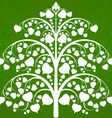 Budhi tree art pattern on a green background vector image vector image