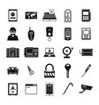 burglar robber plunderer icons set simple style vector image