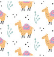 cartoon camel seamless pattern vector image