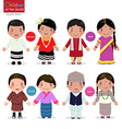children world maldives india bhutan nepal vector image vector image