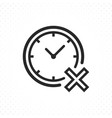 clock with cross icon vector image vector image