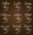 coffee cup type coffee vector image